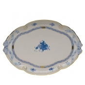 Chinese Bouquet Blue RIBBON TRAY