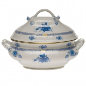 "Chinese Bouquet Blue TUREEN W/BRANCH  (4 QT) 10""H"