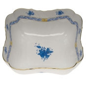 "Chinese Bouquet Blue SQUARE SALAD BOWL  10""SQ"