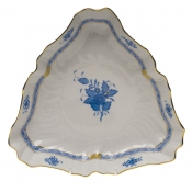 "Chinese Bouquet Blue TRIANGLE DISH  9.5""L"