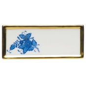 "Chinese Bouquet Blue PLACE CARD 3.75""L X 1.5""H"