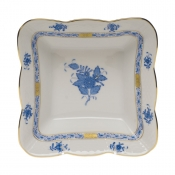 "Chinese Bouquet Blue SQUARE DISH 6.75""L X 2.5""H"
