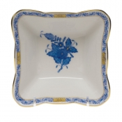 "Chinese Bouquet Blue SMALL SQUARE DISH 4.75""L X 2""H"