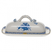 Chinese Bouquet Blue BUTTER DISH W/BRANCH