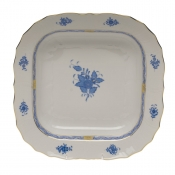 "Chinese Bouquet Blue SQUARE FRUIT DISH  11""SQ"