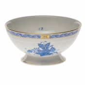 "Chinese Bouquet Blue FOOTED BOWL 5""D X 2.5""H"