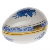 Herend Chinese Bouquet Blue Egg Bon Bon