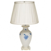 Herend Chinese Bouquet Blue Basketweave Lamp - 22""