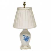 Herend Chinese Bouquet Blue Basketweave Lamp - 14""