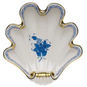 Herend Large Shell Dish - Blue
