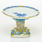 Herend Shell with Dolphin Stand - Blue