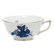 Chinese Bouquet Black Sapphire Tea Cup