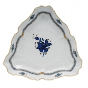 Chinese Bouquet Black Sapphire Triangle Dish