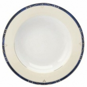 Scala Blue Gold Filet  Rim Soup Plate