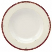 Scala Red Gold Filet  Rim Soup Plate