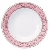 Margot Pink  Rim Soup Plate