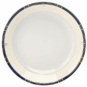 Scala Blue Gold Filet  Soup/Cereal Plate