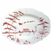 Juliska Country Estate Winter Frolic Ruby Serving Platter / Christmas Eve - 15""