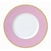 Les Indiennes Matte Gold Filet Rose Dessert Plate