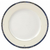Scala Blue Gold Filet  Dessert Plate