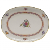 "Chinese Bouquet Multicolor TRAY  10.5""L X 8""W"