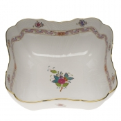 "Chinese Bouquet Multicolor SQUARE SALAD BOWL  10""SQ"