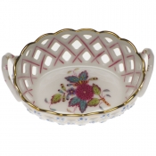 Openwork Basket w/ Handles - Multi color