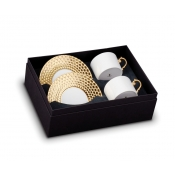 Aegean Gold Tea Cup + Saucer (Gift Box of 2)
