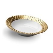 Aegean Gold Rimmed Serving Bowl