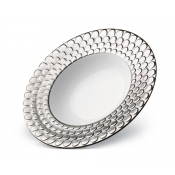 Aegean Platinum Rimmed Serving Bowl