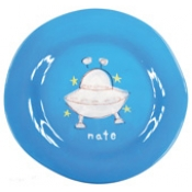 Alex Marshall 3 Piece Character Baby Dish Set - Blue UFO