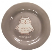 Alex Marshall 3 Piece Character Baby Dish Set - Grey Owl