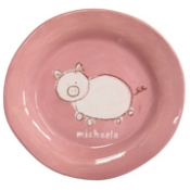Alex Marshall 3 Piece Character Baby Dish Set - Pink Pig