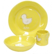 Alex Marshall 3 Piece Character Baby Dish Set - Yellow Duck