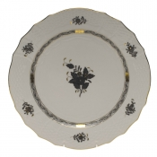 Chinese Bouquet Black SERVICE PLATE