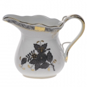 "Chinese Bouquet Black CREAMER (6 OZ) 3.5""H"