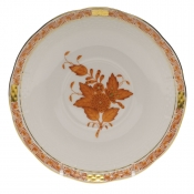 "Chinese Bouquet Rust COVERED BOUILLON SAUCER  6.5""D"