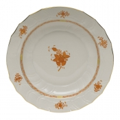 "Chinese Bouquet Rust CHOP PLATE  12.25""D"
