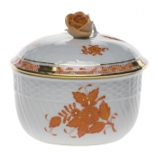 "Chinese Bouquet Rust SUGAR - COVERED W/ROSE  (10 OZ) 4""H"
