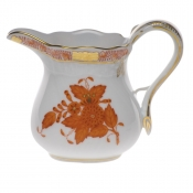 "Chinese Bouquet Rust CREAMER  (4 OZ) 3.25""H"