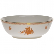 "Chinese Bouquet Rust LARGE BOWL 11""D"