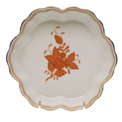"Chinese Bouquet Rust FRUIT BOWL   6.25"" D."