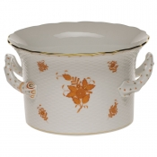 Herend Chinese Bouquet Rust Cachepot w/ Handles