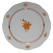 "Chinese Bouquet Rust ROUND PLATTER  13.75""D"