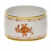 Chinese Bouquet Rust NAPKIN RING