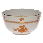 "Chinese Bouquet Rust ROUND BOWL  (3.5 PT) 7.5""D"
