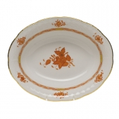 "Chinese Bouquet Rust OVAL VEGETABLE DISH  10""L X 8""W"