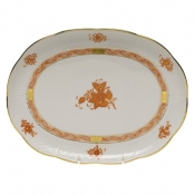 "Chinese Bouquet Rust TRAY  10.5""L X 8""W"