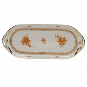 "Chinese Bouquet Rust SANDWICH TRAY  14.5""L X 6""W"