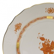 Chinese Bouquet Rust COVERED BOUILLON LID ONLY W/ROSE